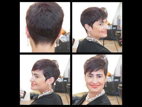 Women's Haircut Tutorial - Pixie Haircut - TheSalonGuy