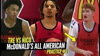 Nico Mannion, Cole Anthony & Tre Mann GO AT IT at 1st McDonald's All American Practice!!