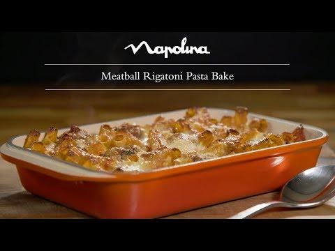 Meatball Rigatoni Pasta Bake