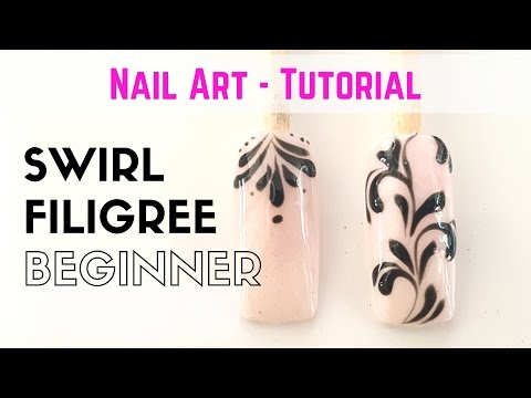 How to swirl design for beginners - NAIL ART - TIPS - TUTORIAL
