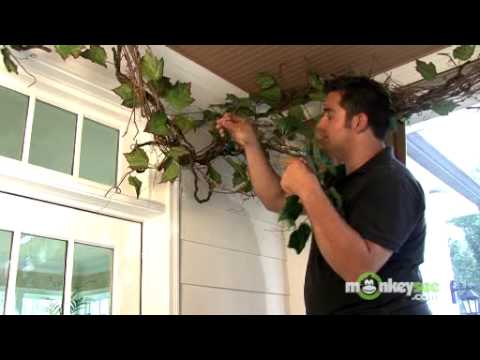 Adding Ivy to the Grapevine Garland