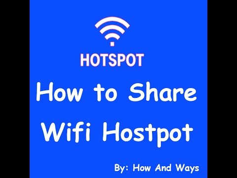 how to share hostpot from windows / how to share wifi hostpot without any software