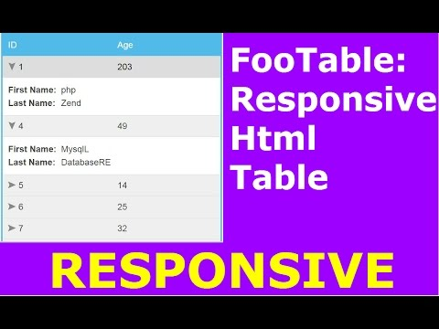 FooTable Tutorial : How To Create Responsive  Html Table Using FooTable [ with source code ]