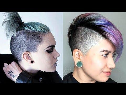 Long Top Short Sides Haircut Women / Extreme Short Hair Cut for Women
