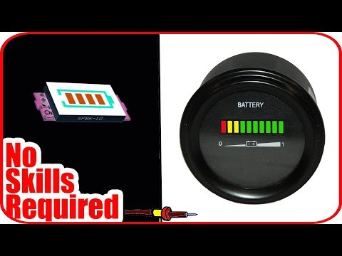 How to make battery current level indicator at home