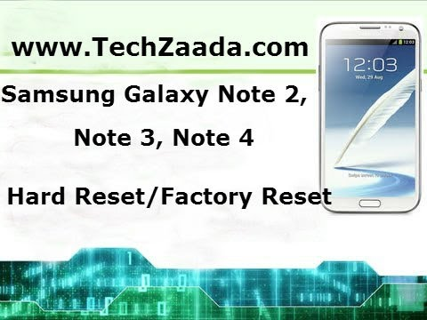 How To Unlock Samsung Galaxy Note 2,3,4,5 Pattern Or Password