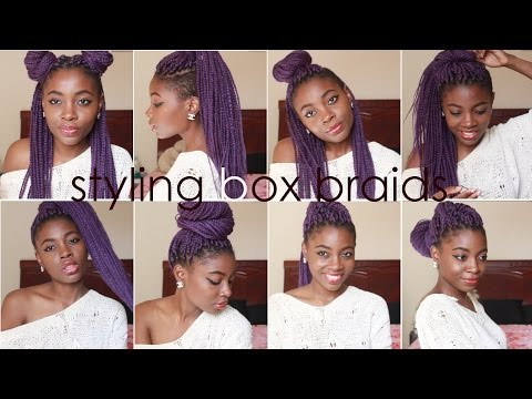 How I Style BOX BRAIDS | 8 Quick Hairstyles