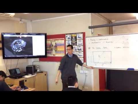 Calculating the Golden Ratio Geometrically