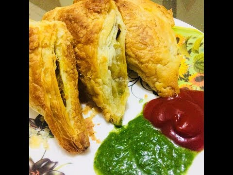 How to make veg puff at home in hindi