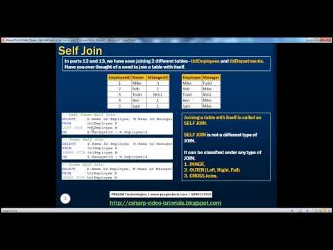 14  Self join in sql server