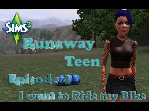 Sims 3 Runaway Teen Episode 4: I want to ride my bike!