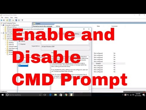 How to Enable and Disable Command Prompt in windows 10 #commandprompt #computerrepair #techtip