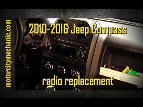 2010-2016 Jeep Compass radio removal