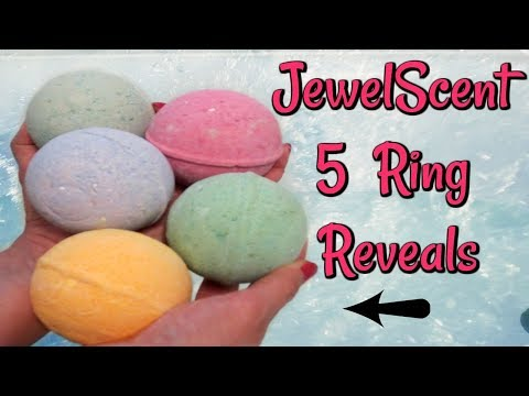 JewelScent Ring Reveals - 5 Bath Bombs at Once!