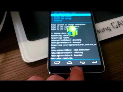 Samsung Note 3 CWM ClockworkMod and Costum Rom