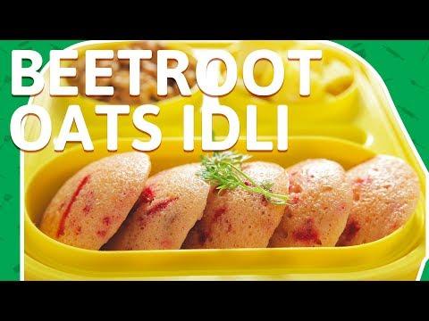 Beetroot Oats Idli - Healthy Beetroot Idli - Oats Idli - Tiffin Box Recipes for Kids
