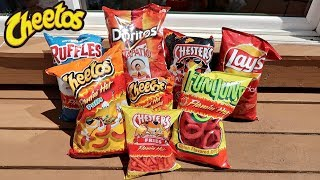 TASTING EXTREMELY SPICY CHIP FLAVORS!
