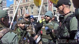 """Militia, Pro-Gun Activists Confront """"March for our Lives"""" DC"""