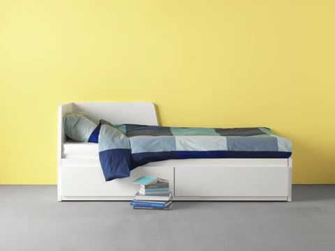 IKEA FLEKKE Daybed with 2 Drawers/2 Mattresses