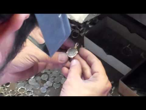 How to make Jewelry video- Setting coins in the bezel