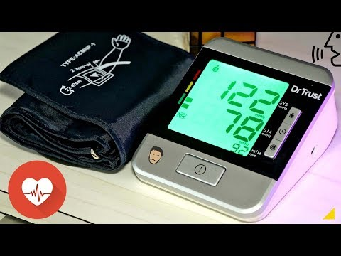 Dr. Trust Goldline Blood Pressure Monitor With Talking Feature & 3 Colors UNBOXING/REVIEW