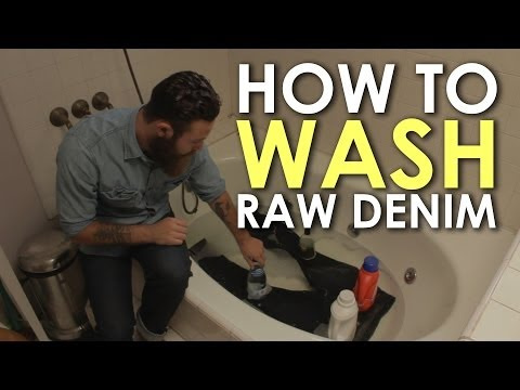 RAW DENIM: How to Wash Raw Denim | The Art of Manliness
