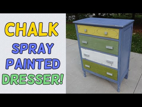 Chalk Spray Paint Dresser Makeover!