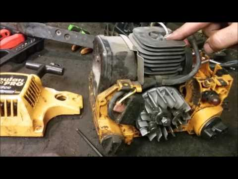 Poulan chainsaw clutch and flywheel removal