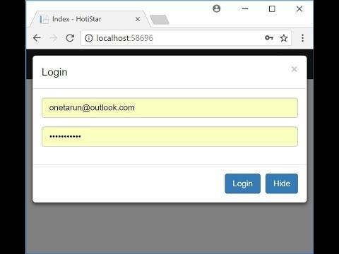 Show modal popup in ASP.NET CORE