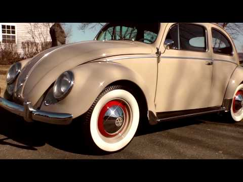 Classic VW Bugs 1954 Light Beige Beetle Sedan For Sale!