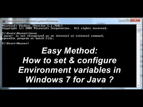 How  to Set Environment variables for Java in Windows 7 operating system