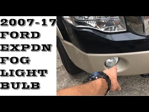 How to replace change fog light bulb in 07-17 Ford Expedition