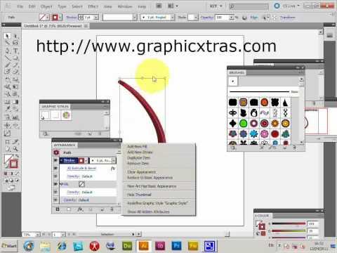 3D Illustrator brush strokes and styles tutorial (CS5 CS4 CS3 etc)