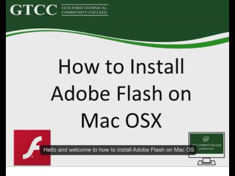 How to install Adobe Flash on Mac