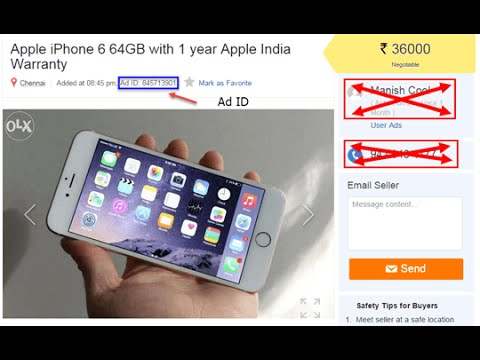 How to Remove AD/Mobile Number from OLX.COM