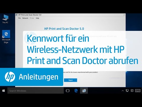 Kennwort für ein Wireless-Netzwerk mit HP Print and Scan Doctor abrufen