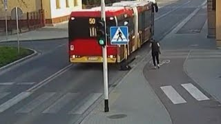 Teen Nearly Gets Hit by Bus After