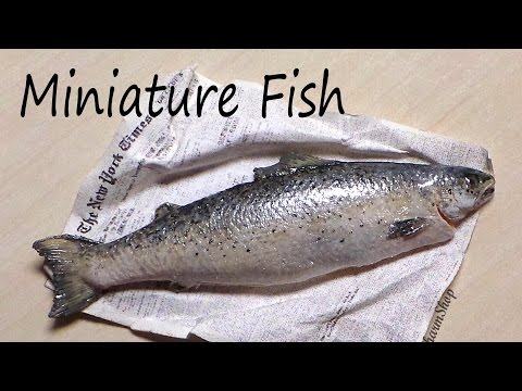 Realistic Miniature Fish / Salmon - Polymer Clay Tutorial