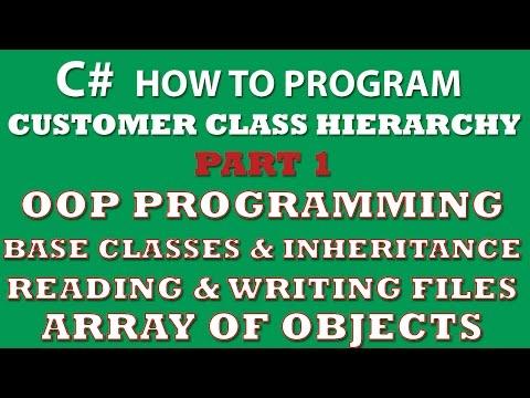 C# Programming Challenge: Customer Classes Part 1 (inheritance, C# OOP, object arrays, Properties)