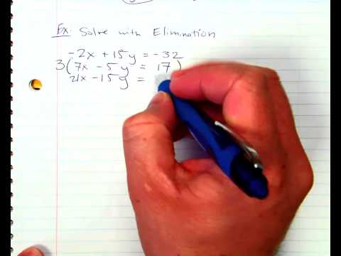 Solving with Elimination Method Making a Match