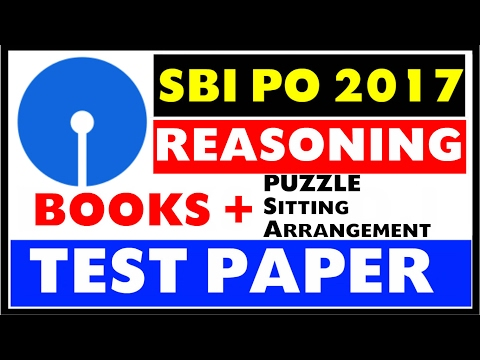SBI PO 2017 - Reasoning  Books + Strategy + Test Papers + YouTube Resources Etc