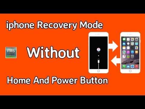 How To Enter Recovery mode Without Home and Power Button iPhone7,  Plus/6S/5S/5C/5/4S/4/3GS/iPad