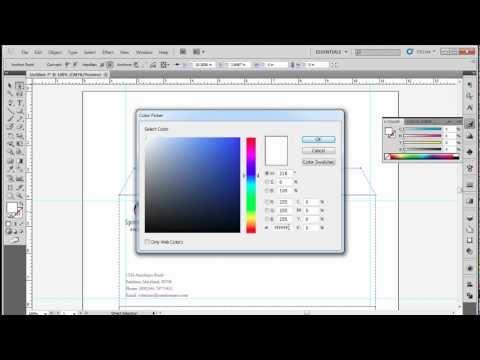How to Design a Corporate Business Envelope for Letterhead Using Adobe illustrator CS5