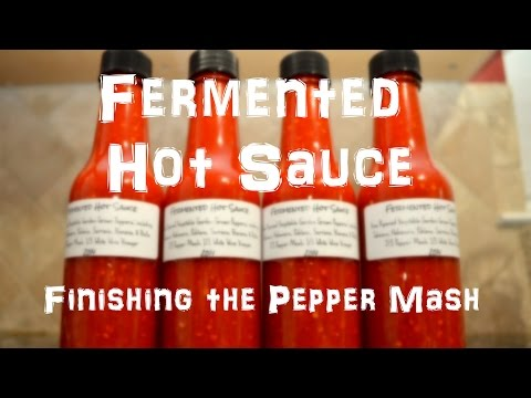 Xxx Mp4 Homemade Fermented Hot Sauce Finishing The Pepper Mash Part 2 Of 2 3gp Sex