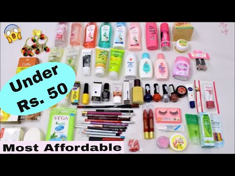 Best Makeup & Skincare Products Under Rs. 50 || Most Affordable Makeup Products in India ||