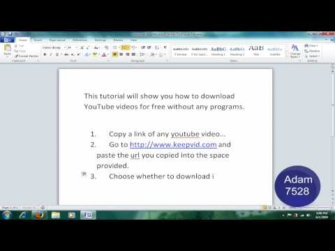 Download YouTube Videos Without Any Programs!