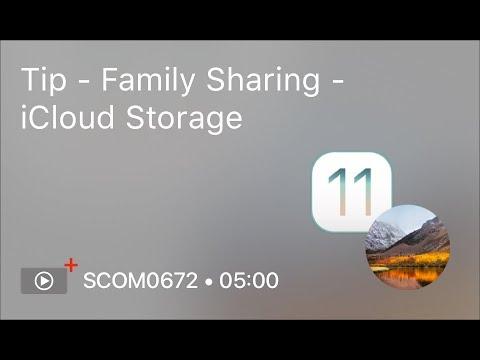 SCOM0672 - Tip - Family Sharing - iCloud Storage