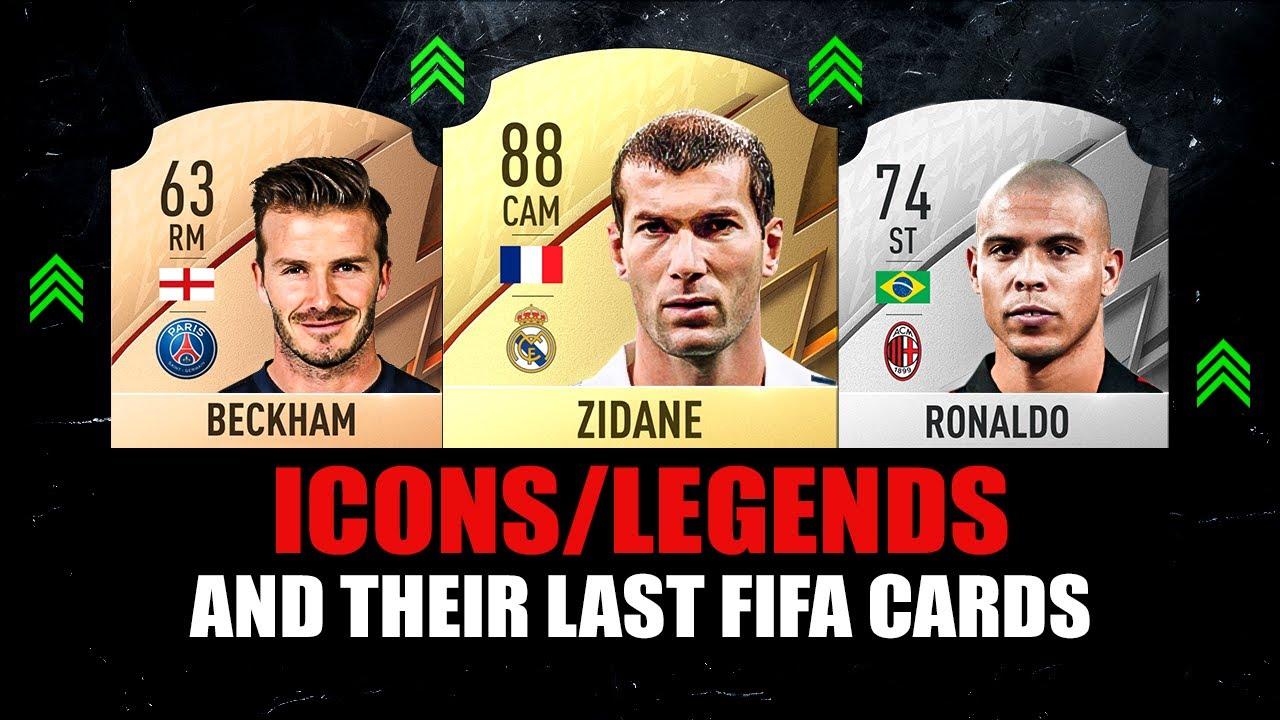 FIFA 22 | ICONS AND THEIR LAST FIFA CARDS! 😱🔥 ft. Beckham, Ronaldo, Zidane... etc
