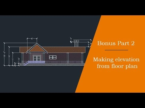 Making elevation view from floor plan: Bonus part 2 of 2
