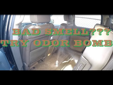 How to get rid of pet, smoke, urine smell in a car using ODOR BOMB